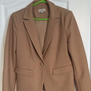 Loft Camel Blazer with elbow patches